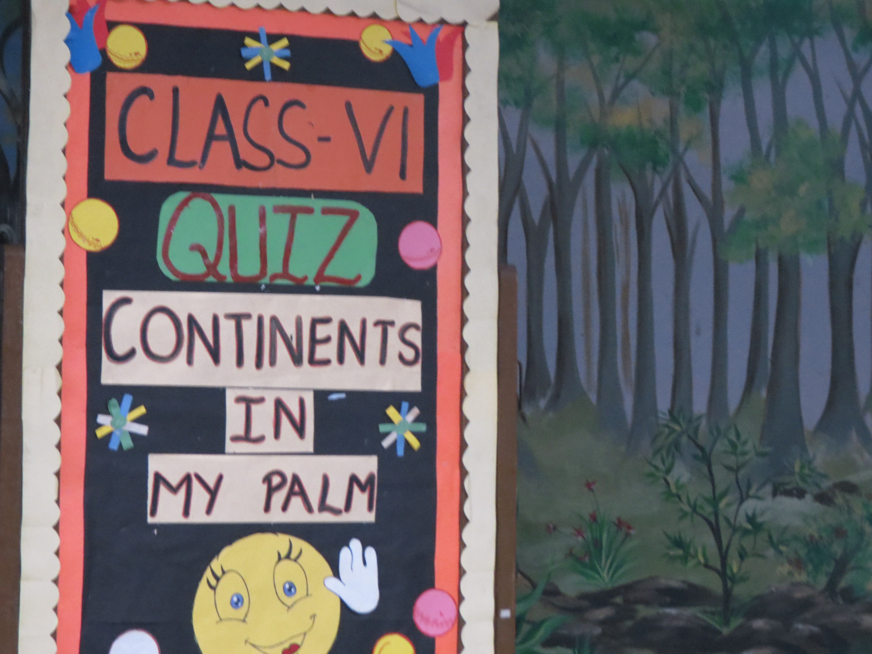Quiz Competition- Class VI 'Continents in my palm'